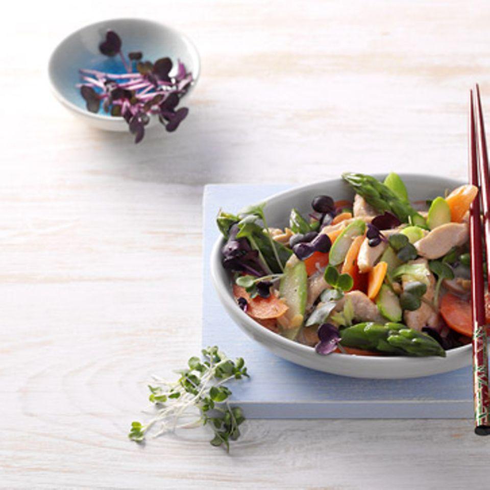 Geflügelsalat mit Shiso-Kresse