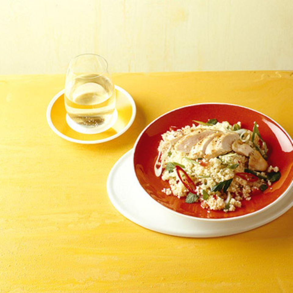 Couscous-Salat mit Hähnchen