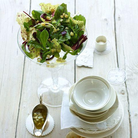 Blattsalat mit Artischockenvinaigrette