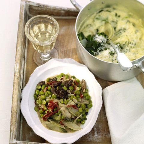 Dicke-Bohnen-Ragout mit Morcheln