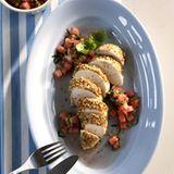 Huhn mit Melonen-Salsa