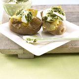 Pesto-Quark mit Kartoffeln