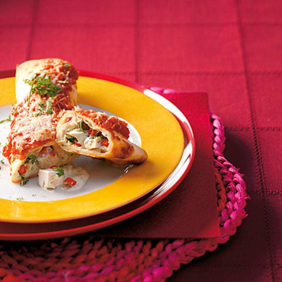 Tortilla-Rollen mit Hähnchen