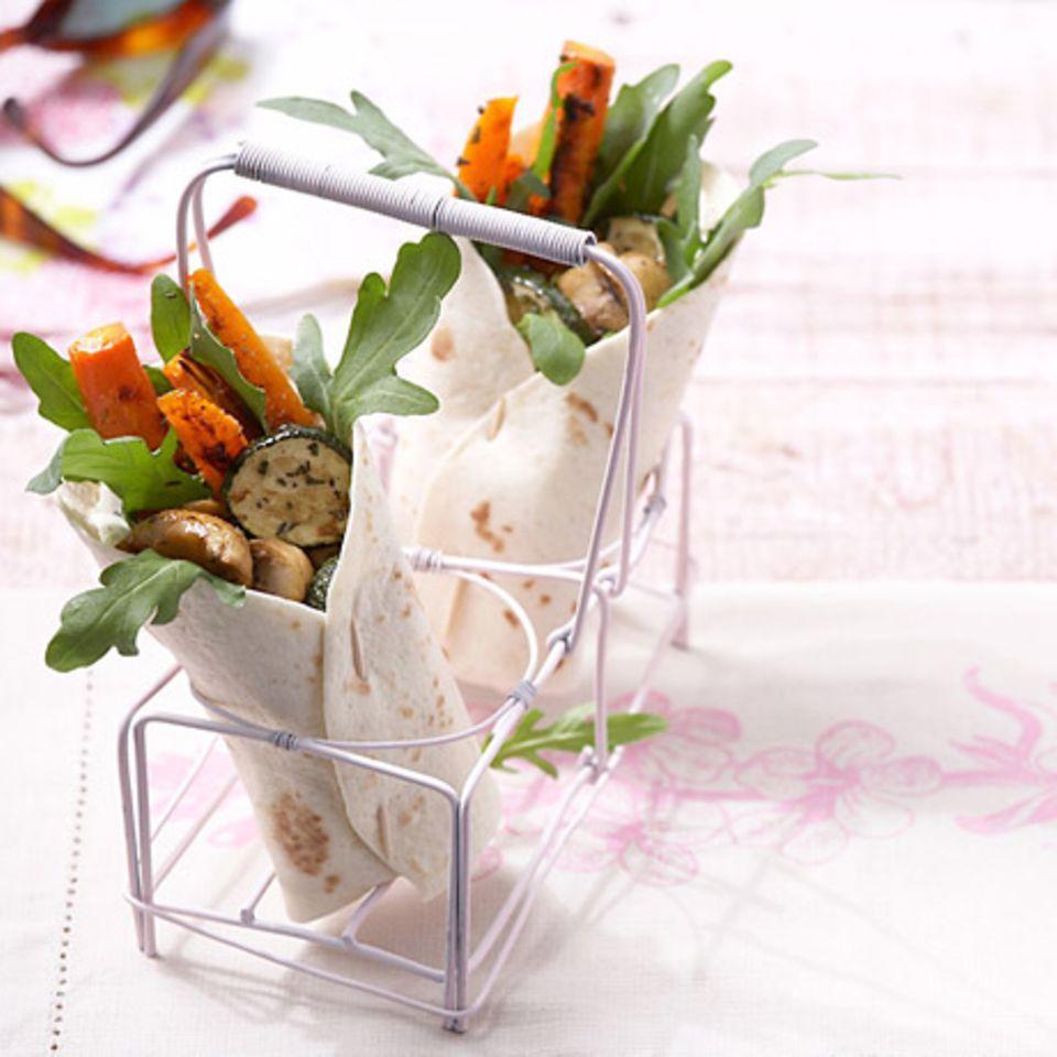Wraps mit Grillgemüse