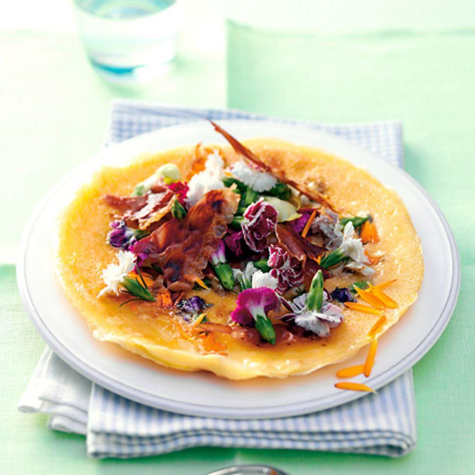 Omelett mit Blüten