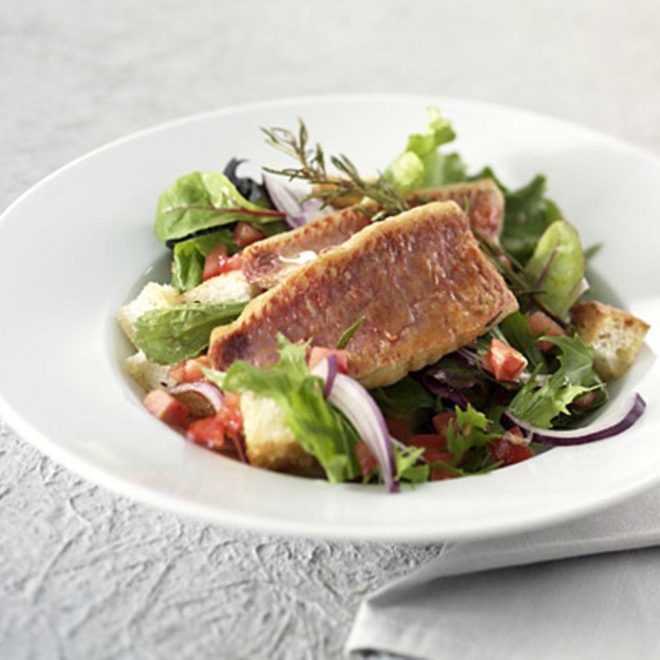 Salat mit Rotbarben