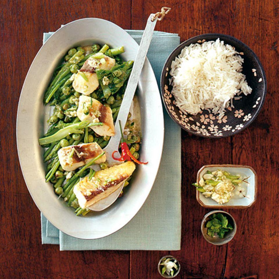 Fisch-Curry mit Ingwer-Vinaigrette