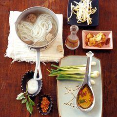 Thai-Suppe mit Hackbällchen