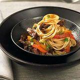 Spaghetti mit Rindfleisch-Sugo