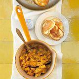 Ricotta-Pancakes mit Quittenkompott