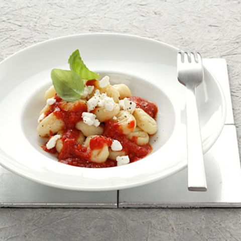 Gnocchi mit Tomaten-Ricotta-Sauce