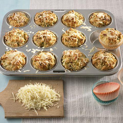 Käse-Lauch-Muffins