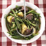 Rindfleisch-Bohnen-Eintopf