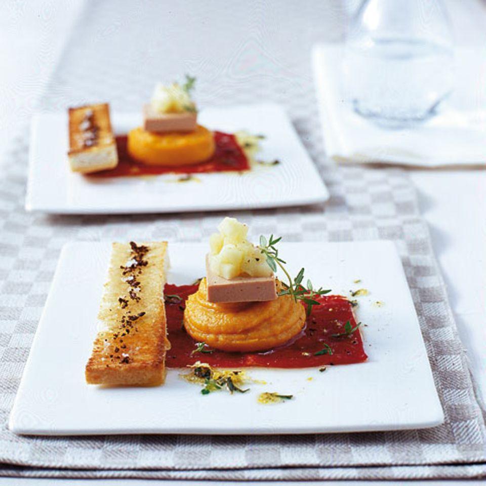 Carpaccio mit Süßkartoffeln und Apfel