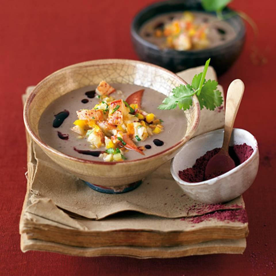 Currysuppe mit Hummer Rezept