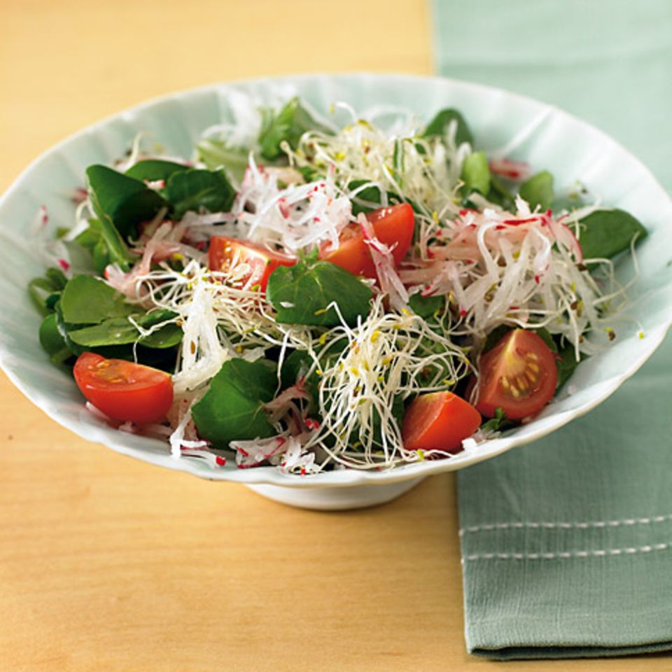 Brunnenkresse-Salat