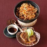 Chili-Nudeln mit Mole-Muscheln