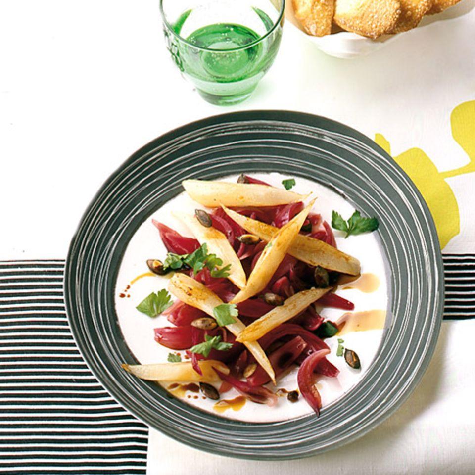 Süß-Saures Zwiebelschwarzwurzel-Gemüse