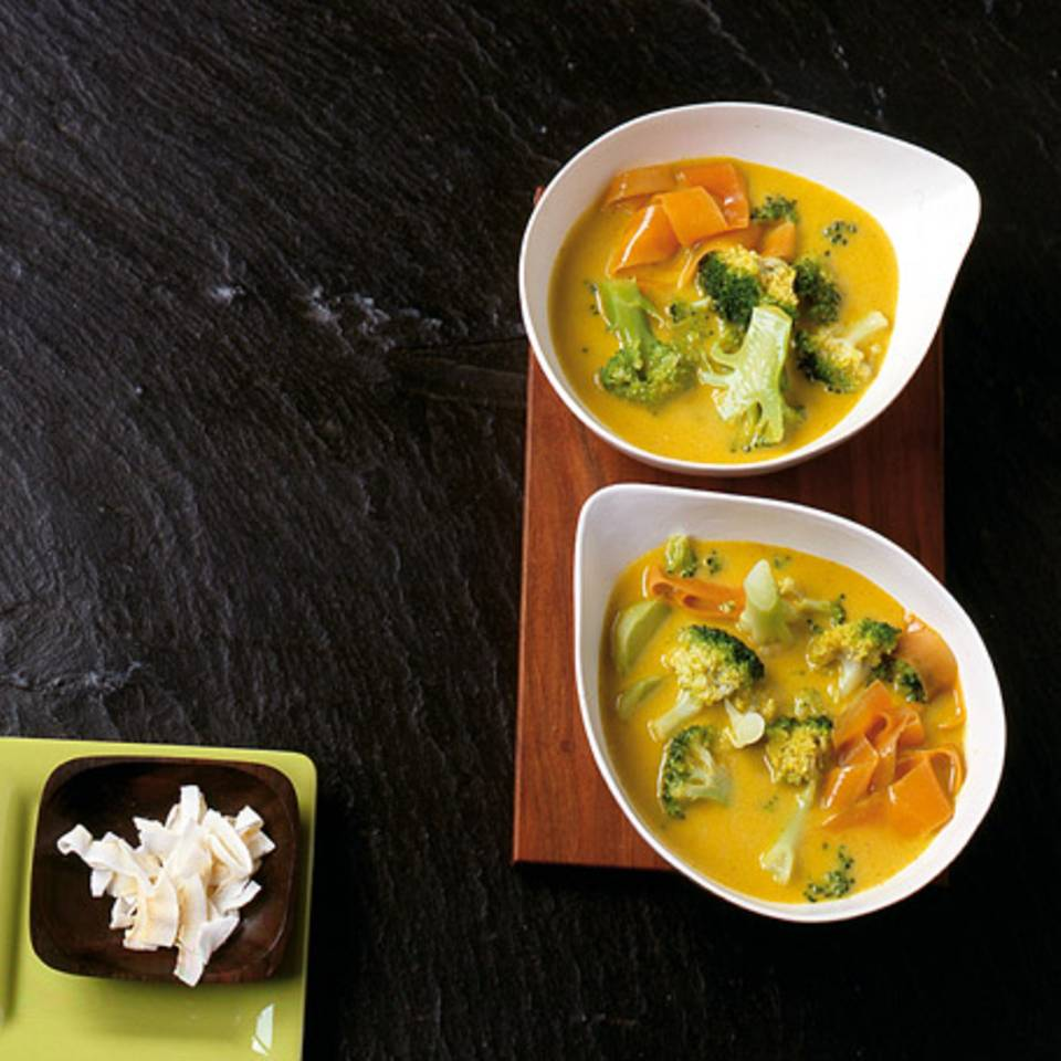 Broccoli-Curry-Suppe Rezept