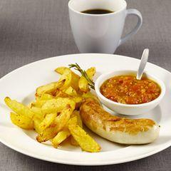 Weißwürste mit Curry-Ketchup