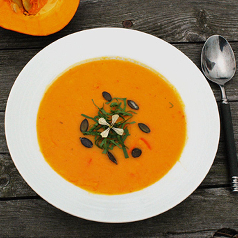 Kürbis-Möhren-Suppe