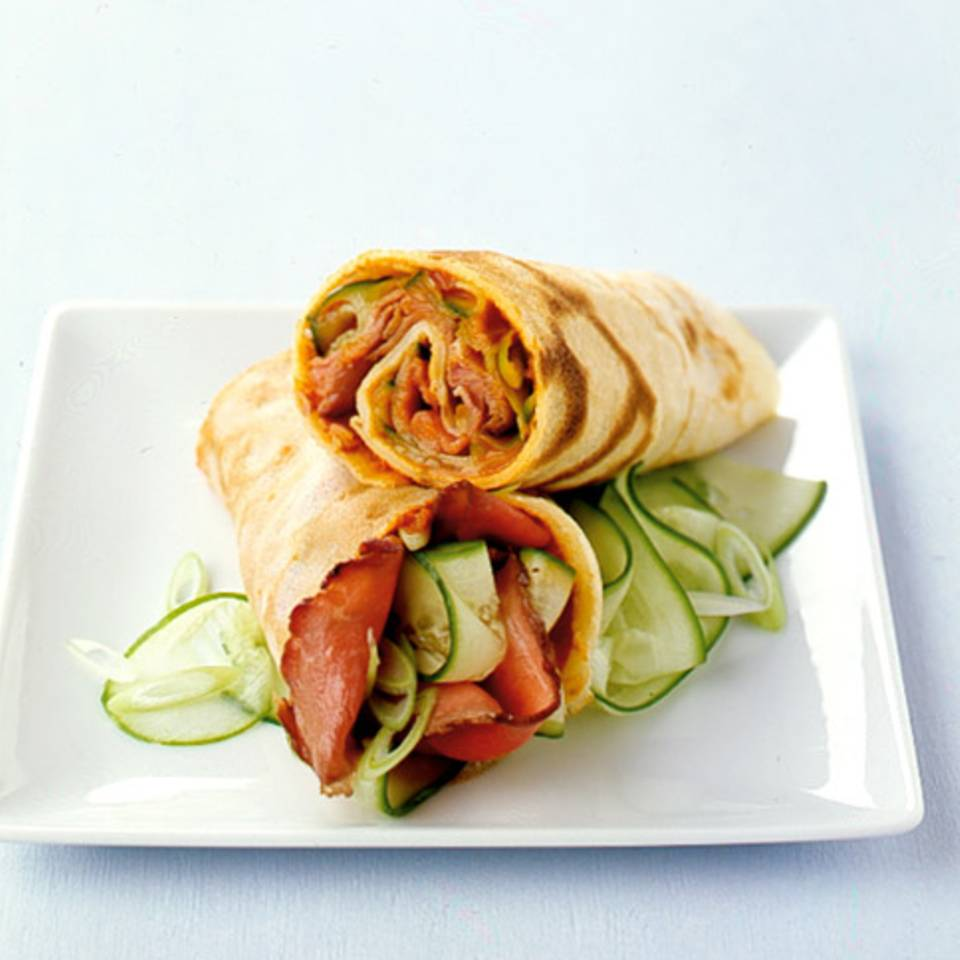 Crêpes mit Roastbeef Rezept