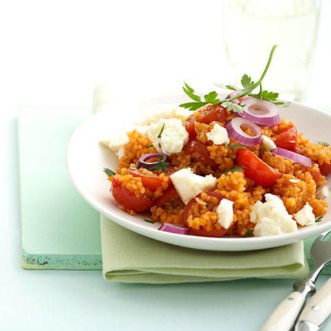 Tomaten-Bulgur mit Feta