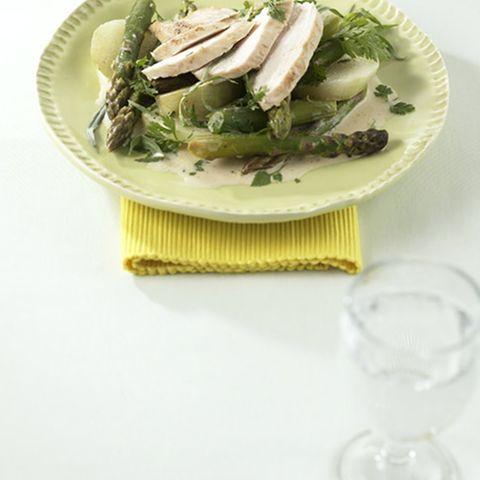 Hähnchenbrust auf Gemüse
