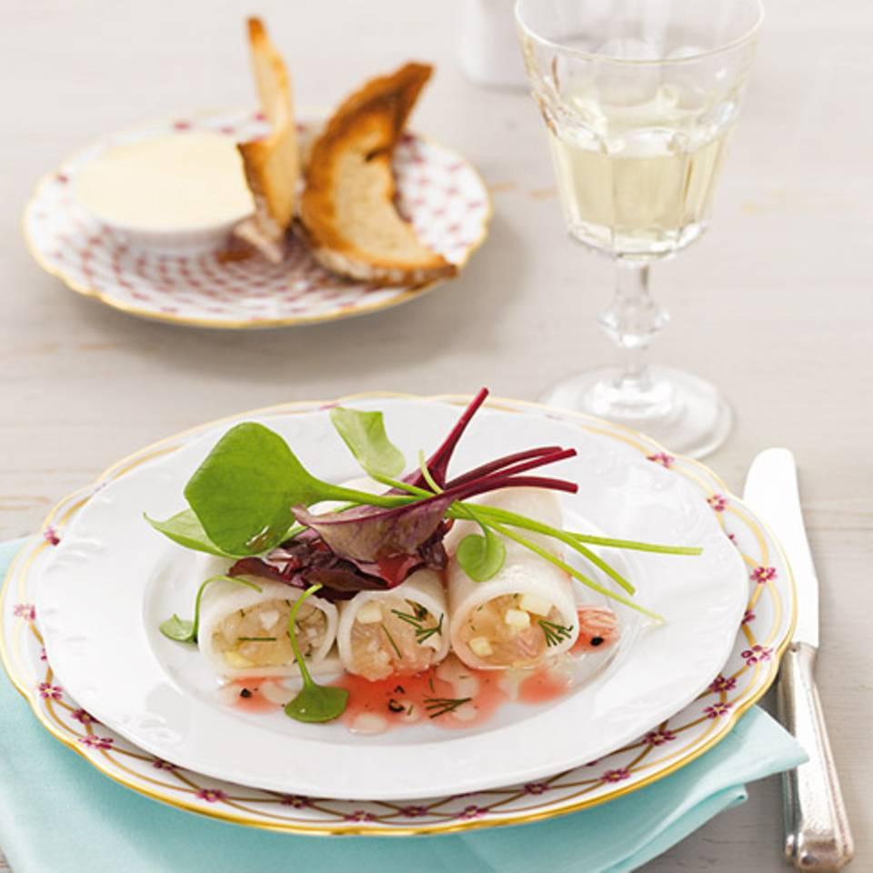 Rettich-Cannelloni mit Forellen-Tatar Rezept