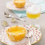 Passionsfruchttörtchen mit Orangenpunsch