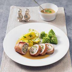 Puten-Rouladen mit Kerbel-Pesto
