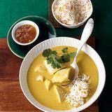 Mulligatawny mit Reis und Mangochutney