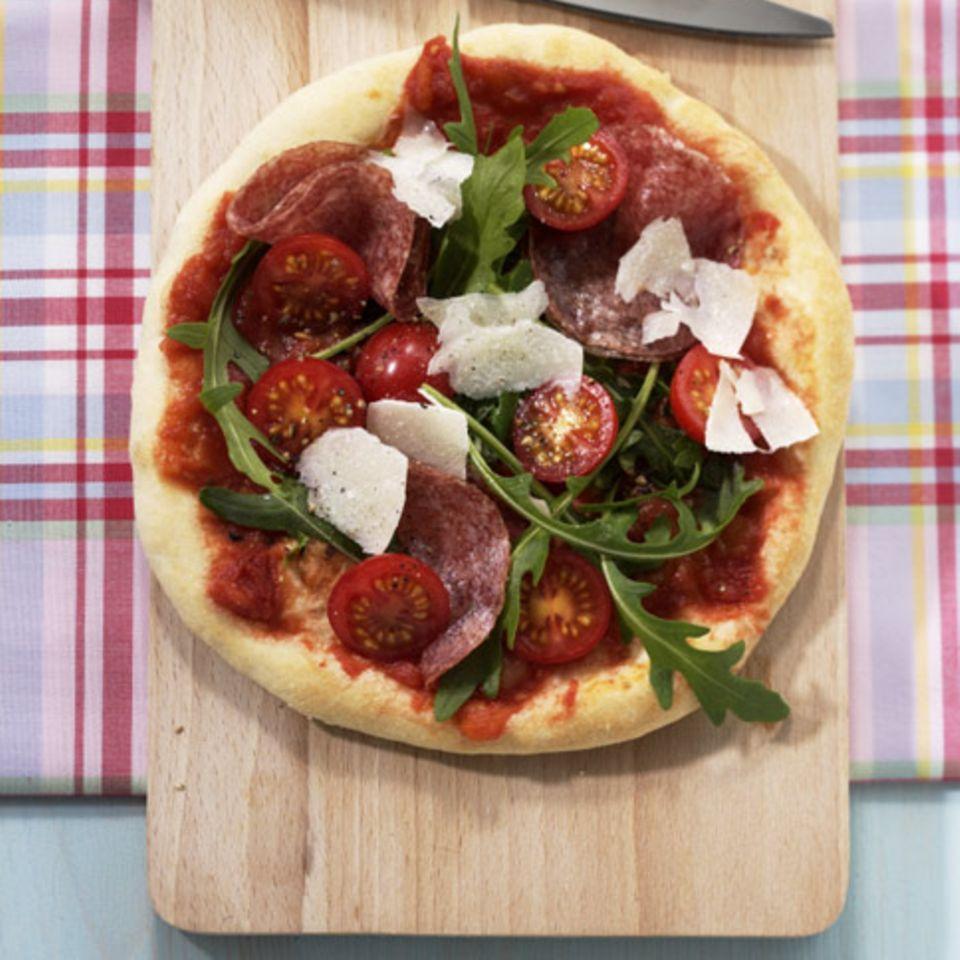 Sommerliche Pizza