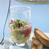 Fischsalat im Glas