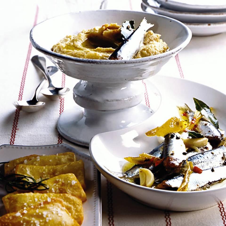 Hummus mit Sardinen Rezept