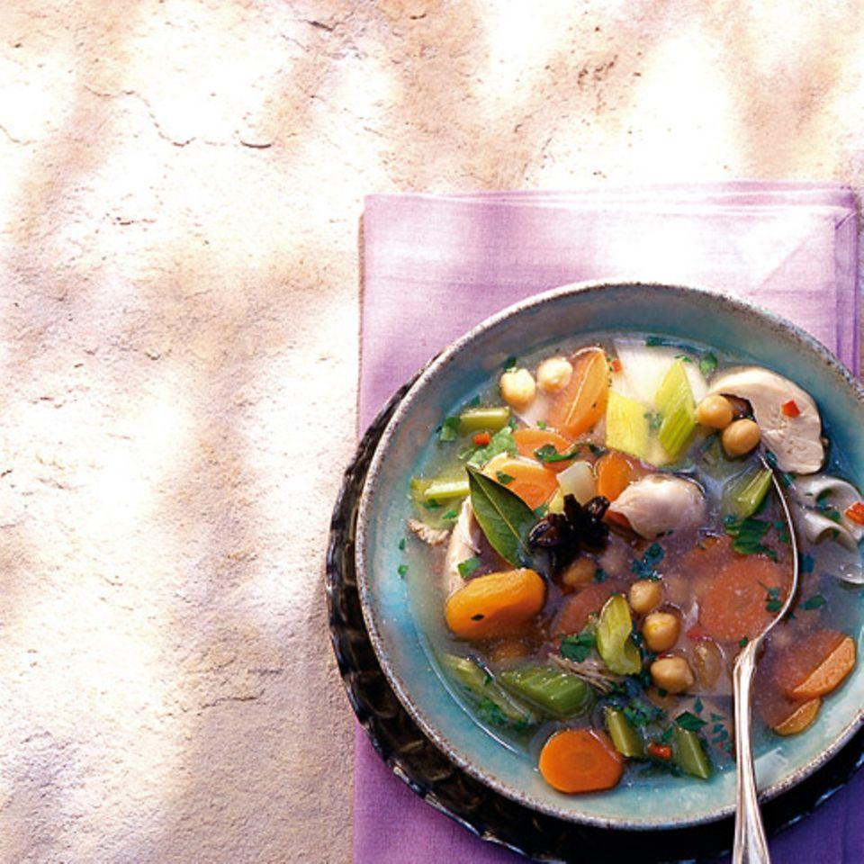 Kichererbsen-Geflügel-Eintopf