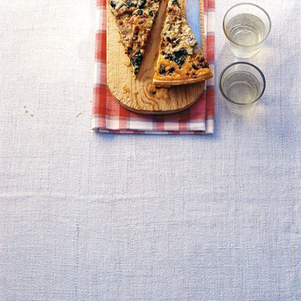 Hackfleisch-Spinat-Tarte