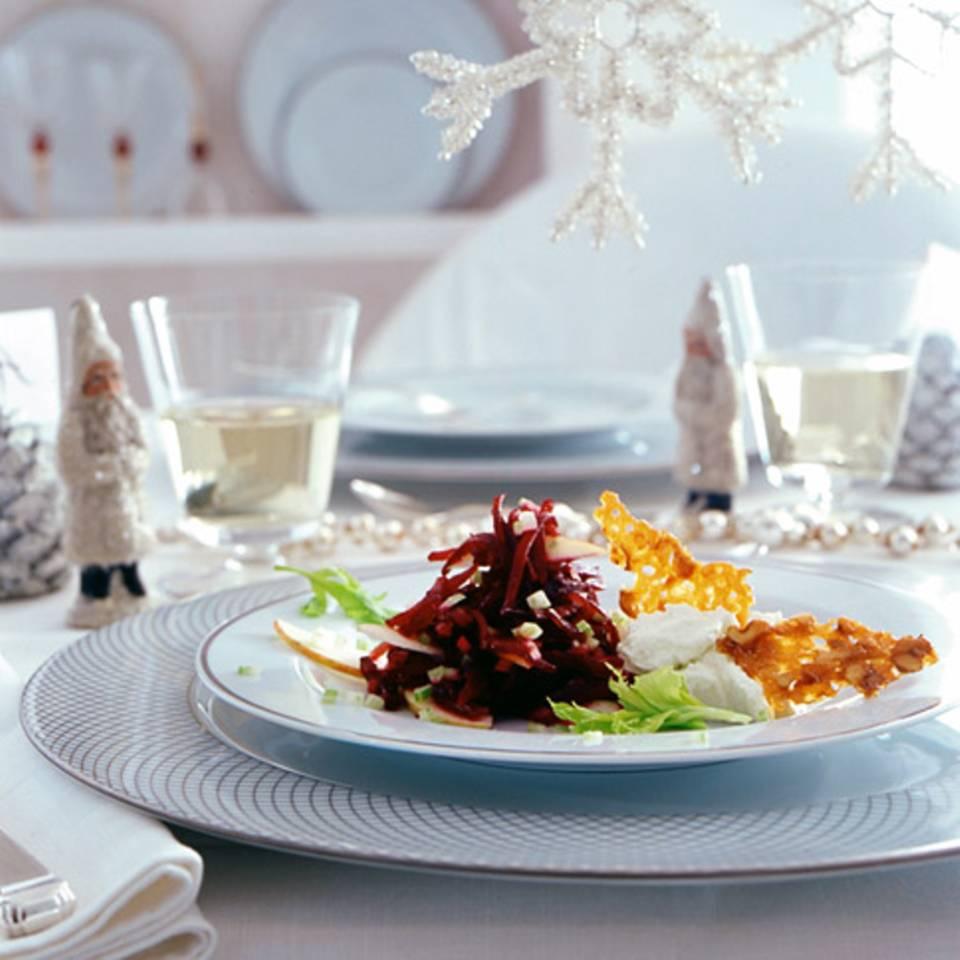 Rote-Bete-Salat mit Wasabi-Frischkäse Rezept