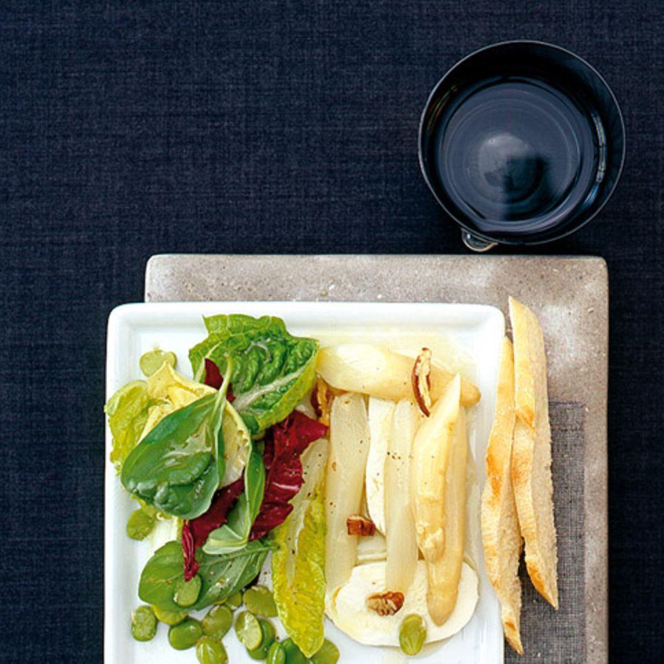 Spargelsalat mit dicken Bohnen