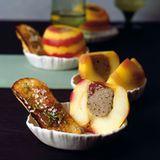 Äpfel mit getrüffelter-Lebermousse