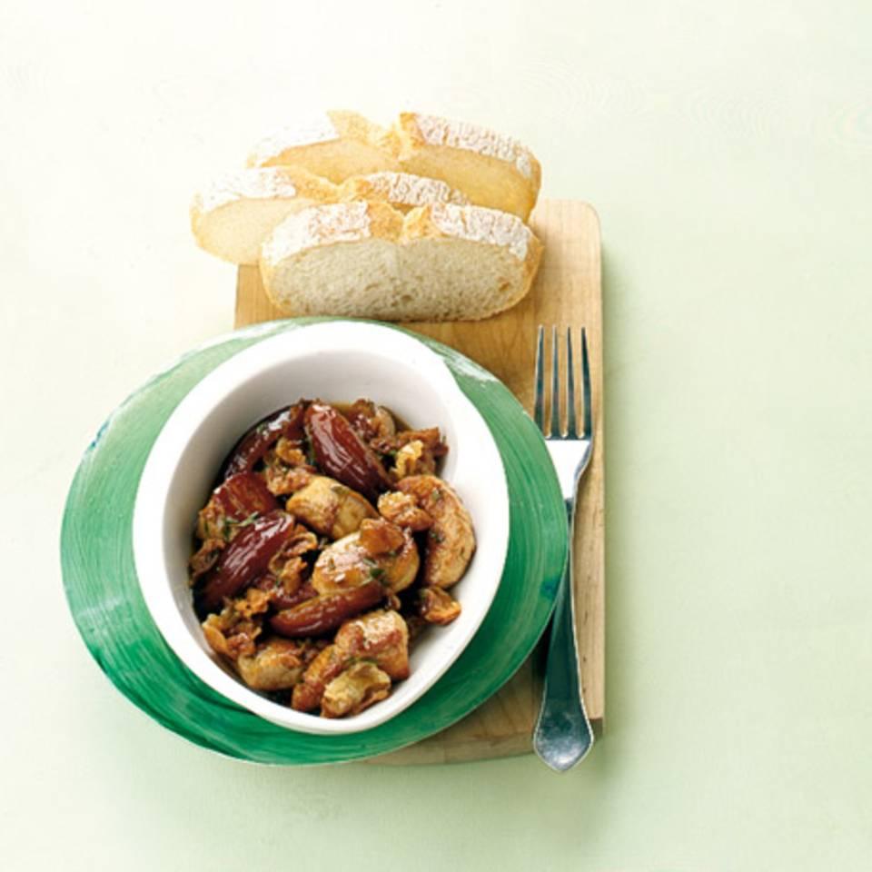 Schweinefilet mit Parmaschinken und Datteln Rezept