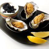 Gebackene Austern mit Kaviar
