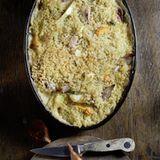 Gemüseauflauf mit Quinoa-Käse-Kruste