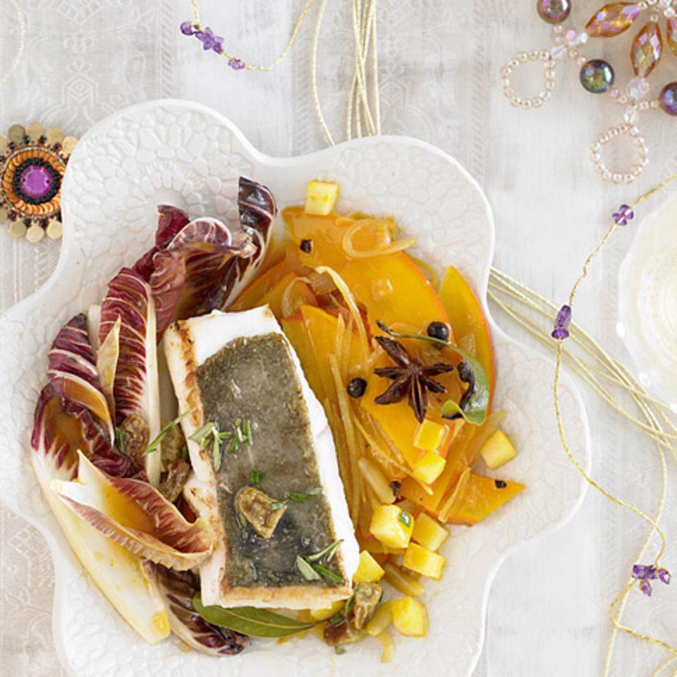 Petersfisch mit Kürbis-Radicchio-Gemüse