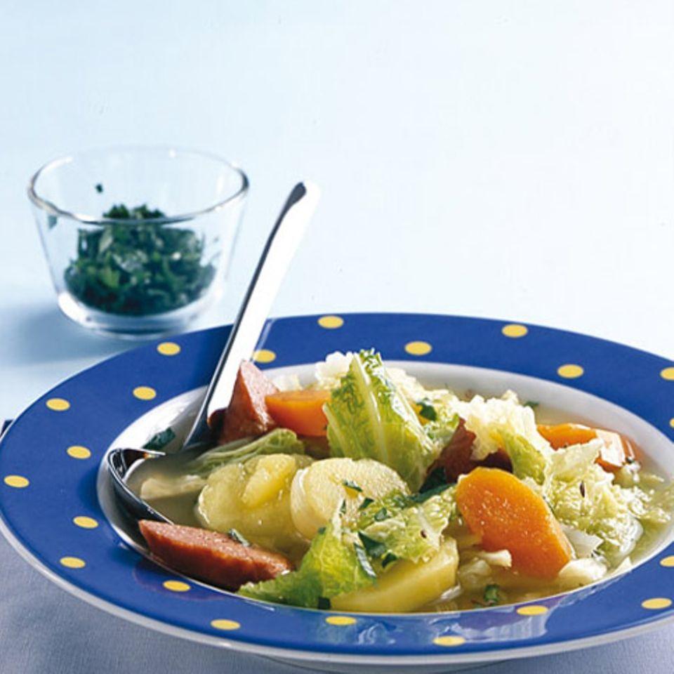 Wirsing-Kartoffel-Topf