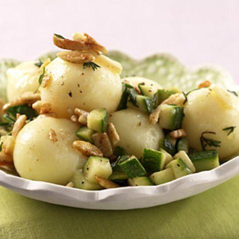 Miniknödel mit Zucchini