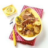 Lammlachs mit Knoblauch-Rosmarin-Kartoffeln