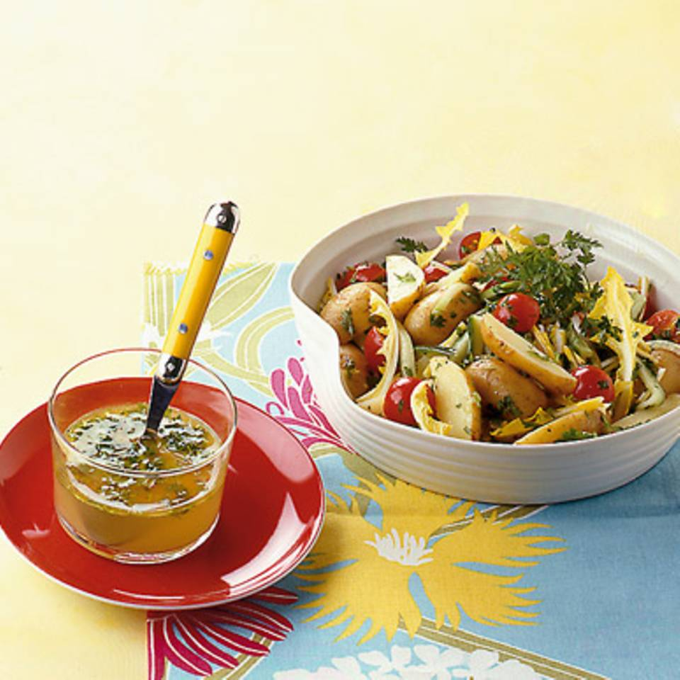 Kartoffel-Löwenzahn-Salat Rezept