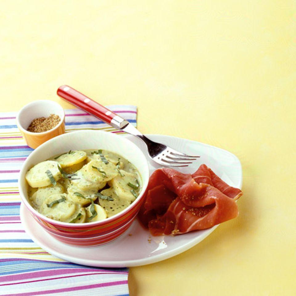 Basilikum-Béchamelkartoffeln