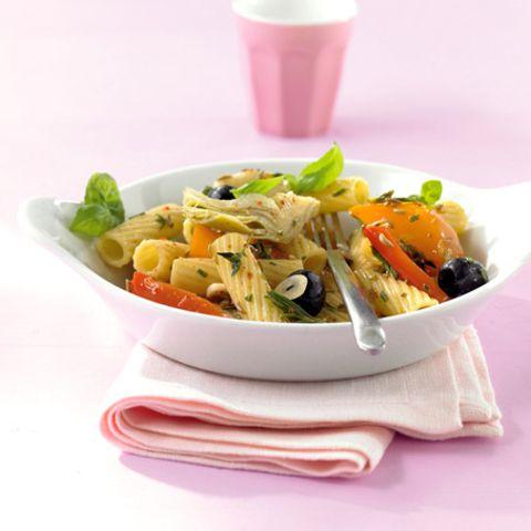 Tortiglioni mit Antipasti-Gemüse